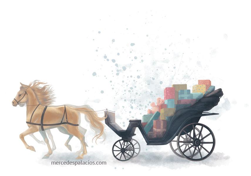 mercedes palacios - ilustracion - caballo