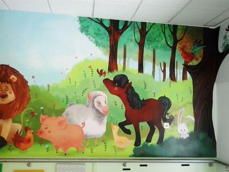 mural recreo  - mercedes palacios - ilustracion