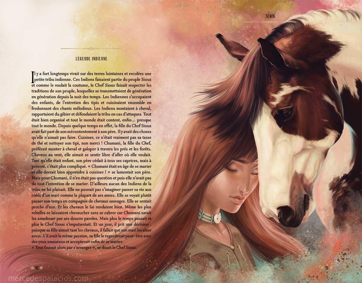 Un Monde de Chevaux - Mercedes Palacios - illustration - ilustracion